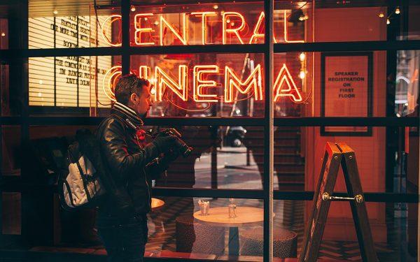 Outside city cinema